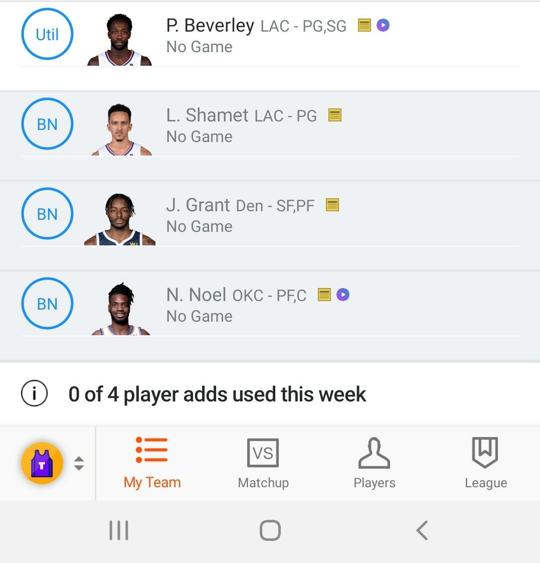 nba roster